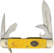 NORTH AMERICAN FISHING CLUB 4 BLADE SCOUT KNIFE RARE YELLOW   51709F  01021