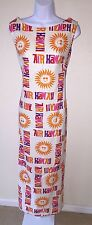 AIR HAWAII Vintage Airline Stewardess Flight Attendant Uniform Maxi Dress