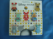 PIXAR VINYLMATION   Disney  Pin SET of 7  2013    Great Characters  New on Card
