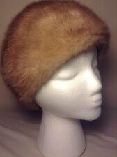 Marche Fur Hat Vintage Women's Precious Fur Hat Mink Fur 60s-70s Style 7.25 Inch