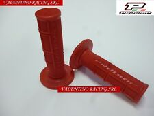 COPPIA MANOPOLE CROSS MOTARD QUAD OFF ROAD PROGRIP 794 ROSSE IN GOMMA SPECIALE