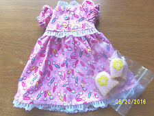 """Flannel Nightgown Set made to fit Hopscotch Hill  or slim 16"""" Dolls"""