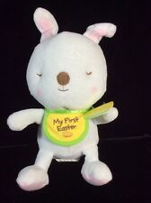 """Hallmark My First Easter Bunny Plush Soft Toy White 8"""" Stuffed Tags"""