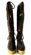 ROCKPORT - CEDRA SCRUNCHED TALL BOOT - BROWN - SIZE 5 - 20,000+ FEEDBACK! SH106