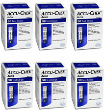 Accu-Chek Aviva 300 Gluco Test Strips, (6x50) EXP 2017  DHL Also Available