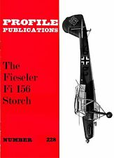 FIESELER Fi 156 STORCH: PROFILE PUBS #228/ NEW PRINT AUGMENTED FACSIMILE ED