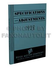 1932 Buick Shop Manual All models 32 Repair Service Book Series 50 60 80 90