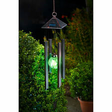 Solar Powered Colour Changing With Led Light Garden Wind Chimes Ball