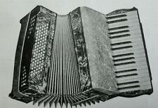 Hohner Carmen Piano Accordion 1936 vintage catalog ad mandolin banjo guitar pick
