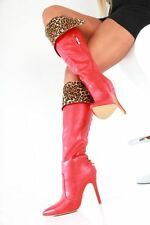 GIARO BOOTS EU40 UK6.5-7 RED HIGH HEELS SEXY FETISH CD TV DRAG QUEEN PLEASER