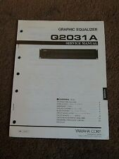 Yamaha Graphic Equalizer Q2031A Service Repair Shop Manual Schematics Q 2031 A