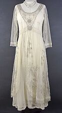 Vintage Style Dresses Downton Abbey Beige Romantic S NATAYA Dress For Less