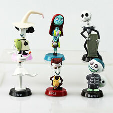 Xmas 6PCS NEW Nightmare Before Christmas Jack and Zero Figure Lovely Gift