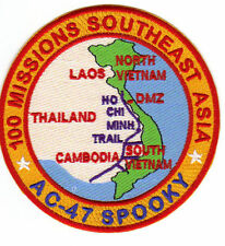 AC-47 SPOOKY PATCH, 100 MISSIONS SOUTHEAST ASIA     Y