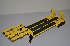 "NEW LEGO TECHNIC YELLOW & BLACK CUSTOM FLATBED TRAILER 25""-Long 8258/8285/9397"