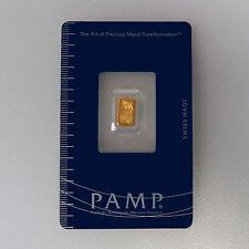 999 Gold Goldbarren Fortuna Pamp Suisse im Blister verpackt mit Zertifikat NEU