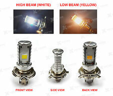 H4 COB LED HID Light  White & Yellow For Bajaj Pulsar 200 NS