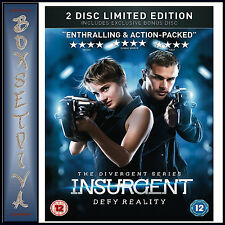 INSURGENT - 2 DISC LIMITED EDITION **BRAND NEW DVD**