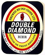 Ind Coope Ltd DOUBLE DIAMOND BIER beer label ENGLAND 25cl