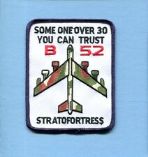 BOEING B-52 STRATOFORTRESS TRUST OVER 30 USAF SAC BS Bomber Squadron Patch