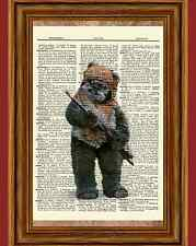 Ewok Star Wars Dictionary Art Print Book Picture Poster Gift Return of the Jedi
