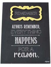 Recordar Cartel Placa todo sucede por una razón Regalo Para Amigos Familia