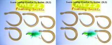 Fly fishing Suede Leather Elva/Eel Fly Bodies (SL3)  (2 packs of 5)