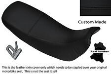 BLACK STITCH CUSTOM FITS HONDA NX 650 DOMINATOR 92-01 DUAL LEATHER SEAT COVER