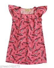 Pink Guitar (FLANNEL FABRIC) Nightdress - Size: Small (for 3-4 years old)