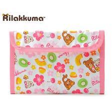 New Cute Rilakkuma San-x Purse Clutch Wallet Card Holder Invoice Case Pink