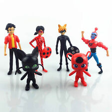 Miraculous Ladybug Adrien Noir Cat Tikki Plagg PVC Figures Toy Kids Collection