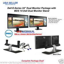 Dell 24-inch E2417H LED Full HD Widescreen Dual Monitor Bundle with MDS-14 Stand