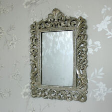Ornate wall mirror shabby vintage chic ornate bedroom bathroom fleur de lys gift