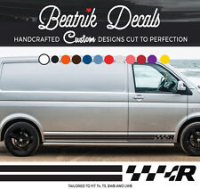 VW T4 T5 R Line Side Stripe Sticker Decal Transporter Camper Van Volkswagen R3