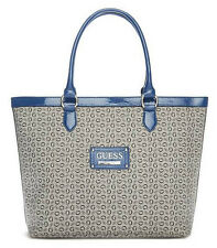 NEW GUESS BLUE PROPOSAL OVERSIZED TOTE HANDBAG BAG PURSE