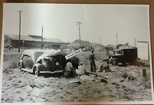 "12 By 18"" Black & White Picture California Migrant Camp 1935 Ford Tule Lake Sign"