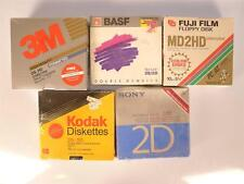 "Lot of (51) 1.2MB 3M BASF Fuji Kodak Sony 5 1/4""  Inch Floppy Disks Discs"