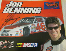 8x6 Hand Signed Photo of Nascar Driver Jon Denning