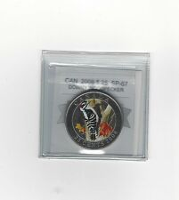 **2008,Downy Woodpecker** Coin Mart Graded Canadian, 25 Cent, **SP-67**