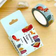 Animals Fox Rhinoceros Feather Washi Tape Diary Filofax Masking Tape1 10M