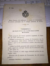 REGIO DECRETO FOSSARMATO ,SEP DA CURA CARPIGNANO COST SEZ AUTONOMA DI PAVIA