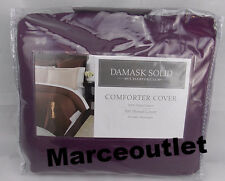 CHARTER CLUB 500 TC Damask Solid KING Duvet Cover & STD Shams Amethyst Purple