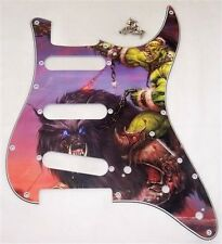 CUSTOM ARTWORK SCRATCHPLATE FOR FENDER STRAT/PG27