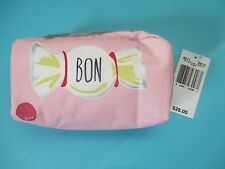 "NEW LESPORTSAC Top Zip Cosmetic Bag 3""x6"" Rectangular Adore Bon Candy"
