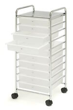 10 Drawer Organizer Cart Rolling Mobile Craft Art Office Home Supplies School