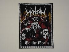 WATAIN TO THE DEATH BLACK METAL BACK PATCH