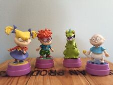 4 VTG 90s Rugrats Tommy Chuckie Reptar Angelica Rubber Stamps Toys Figures PVC