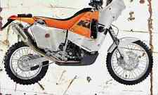 KTM LC4 660 RallyFactoryReplica 2003 Aged Vintage SIGN A3 LARGE Retro