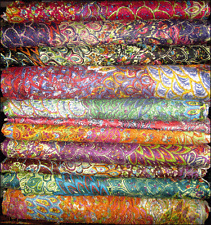 Indian Rayon Cotton Fabric Floral Print Dress Material Cloth Multi color 1 Yard