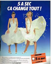 Publicité Advertising 1987 Pressing 5 à Sec